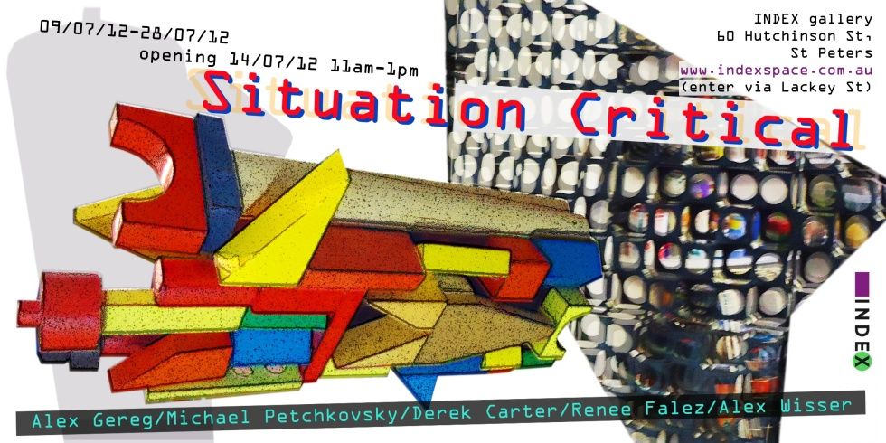 exhibition details, Index gallery 9/7/12 to 28/7/12