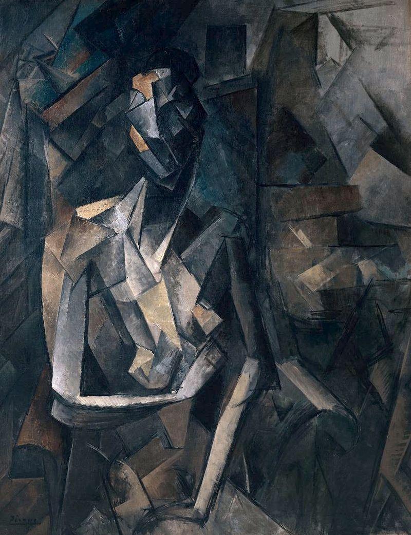 800px-Pablo_Picasso,_1909-10,_Figure_dans_un_Fauteuil_(Seated_Nude,_Femme_nue_assise),_oil_on_canvas,_92.1_x_73_cm,_Tate_Modern,_London